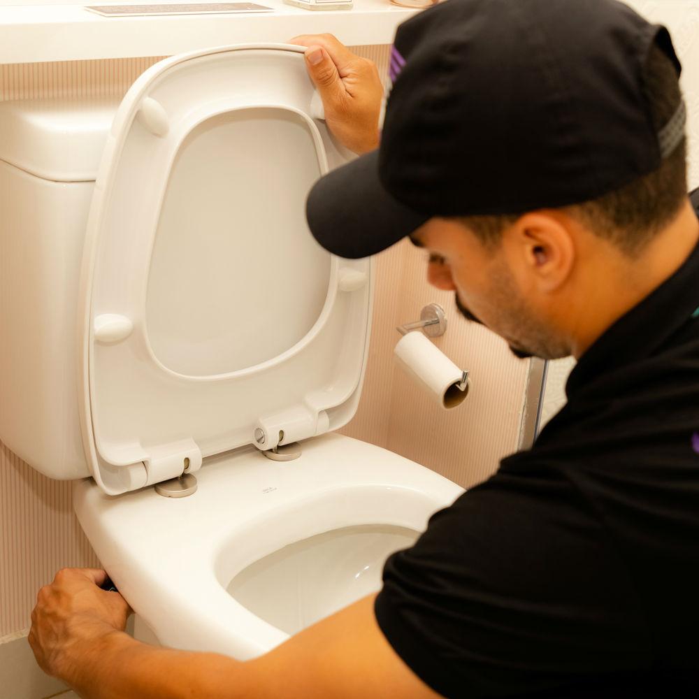 Vazamento em vaso sanitário